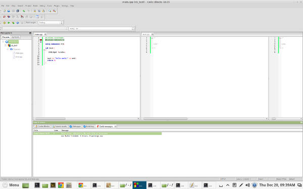 Code::Blocks IDE for Linux Mint