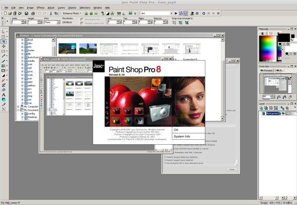 Paint Shop Pro 8 on Linux Mint