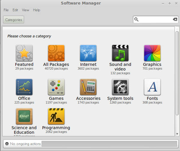 Software Manager for Linux Mint