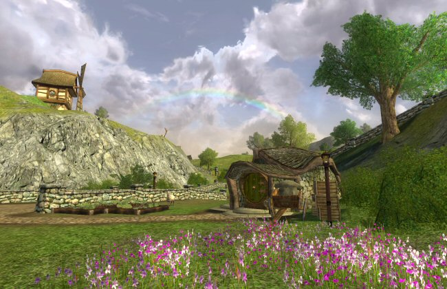 On one hand, we're lacking the required weather to create that rainbow. On the other hand, this game sure is pretty for 2007.