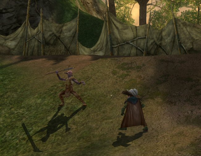 Dude. Before you throw the spear, look down at your shadow. It's so hilarious right now.