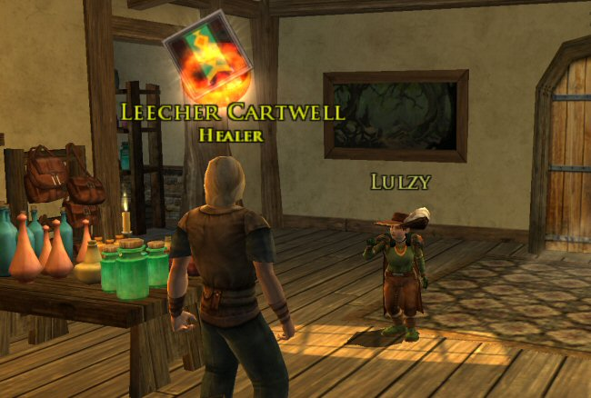 You`re a healer, right? That`s good, because I SEEM TO HAVE BEEN MAULED BY A BEAR. Jerk.