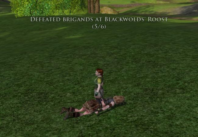 You can`t teabag a foe if you`re a Hobbit, because you just end up sitting on their head.