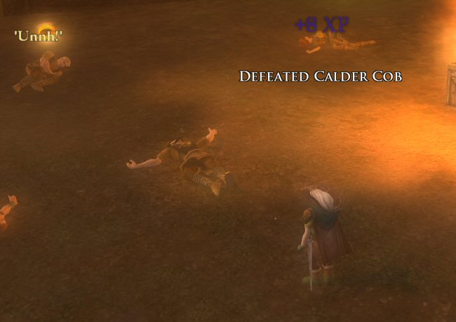 It's an MMO quest, so I'll probably have to kill a dozen Calder Cobs and collect their Cob-pelts.