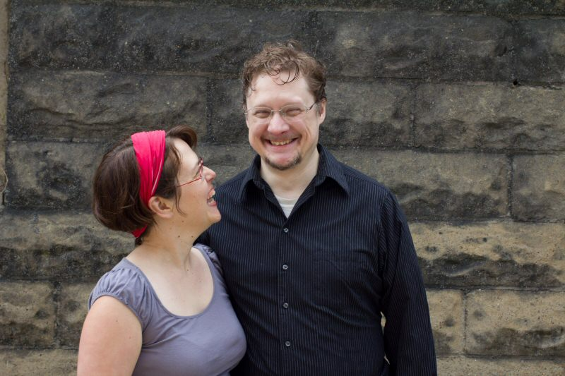 The happy couple in 2014.