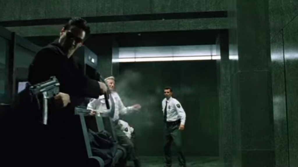 Michael Bay movies are PACKED with scenes where badass people destroy an environment by shooting badass guns, and nobody remembers or cares about those scenes. If you want to capture the magic of the Matrix lobby fight, then your work starts long BEFORE anyone starts shooting. It starts with the characters.