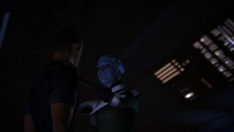 Stop Liara... ghk... you`re... hrk... choking... me!