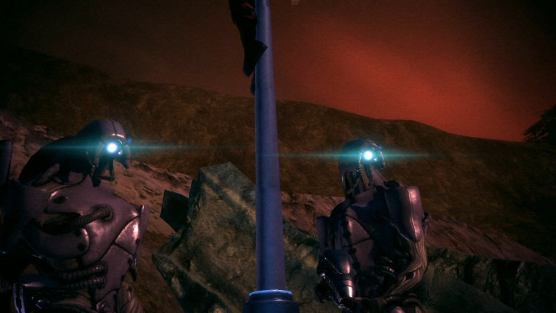 I LOVE the visual similarites between the Geth and their creators. Also their talking sounds super-cool.
