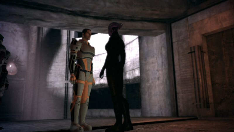 Brace yourself Shepard. This is going to be like a Vulcan mind-meld, except with a hot chick instead of Leonard Nimoy.