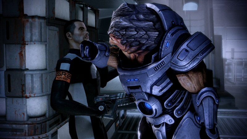 Okay, nice move with the pistol, Shepard. Except the scene made it abundantly clear you didn't have one.
