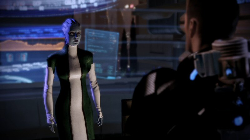 I'd go with you, Shepard, but it would take me several days just to get these gloves off.