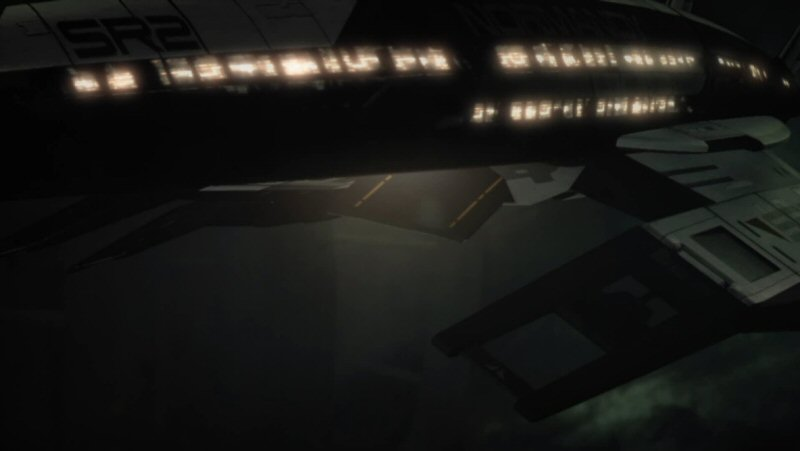 Aside: Whats the deal with these light up window-things? They don't correspond to any windows we see from the interior. So what are they? Christmas lights? On a stealth ship?