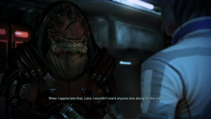 Sure, moments like this are great. But they're not great because of anything that the Mass Effect 3 writer did.