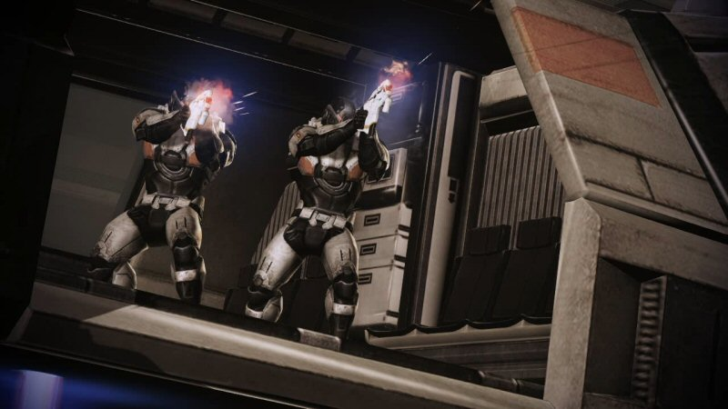 Cerberus got done paying for the soldiers, the shuttle, the body armor, the fleets, the mechs, and the vast intelligence network to make this all possible. And then they realized they'd forgotten to buy guns for the troops, and had to attack with pistols.