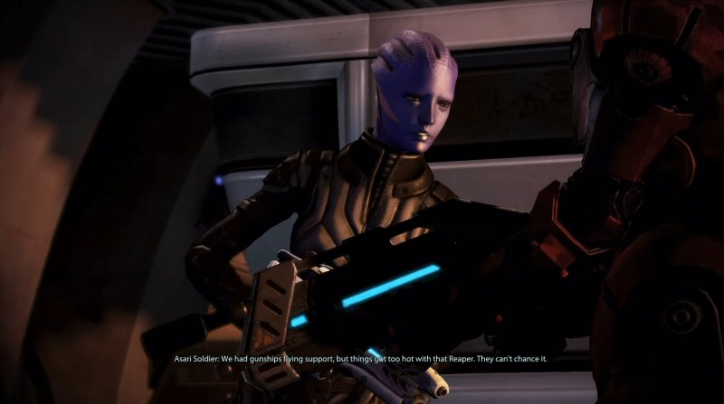 I know it's petty, but I HATE how the Asari have jargon for ranks, units, weapons, formations, vehicles, and tactics that are simply a mindless copy of 20th century American (movie) military. It feels so... lazy.