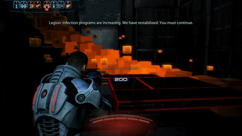 Shepard Commander. Shoot the software bugs with your gun, which I can`t do myself for some reason.