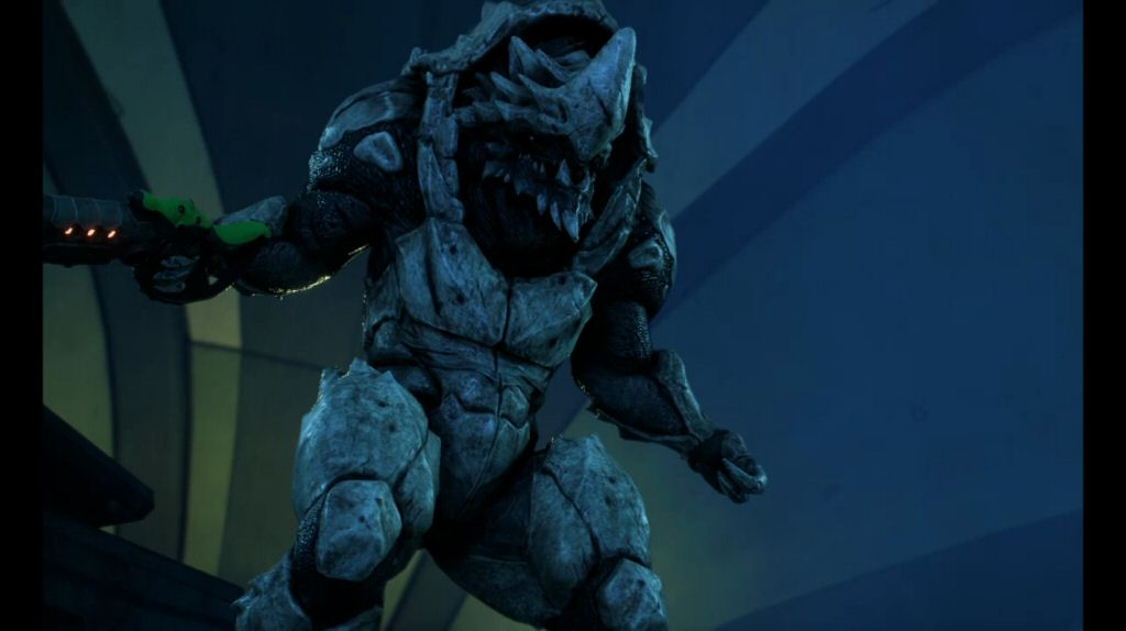 An exalted Krogan looks like a regular Krogan, except 10% more spiky and 100% more naked.