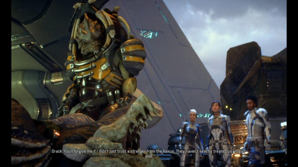 We just arrived and we're already enemies with the Krogan. If only there was some way we could have anticipated this.