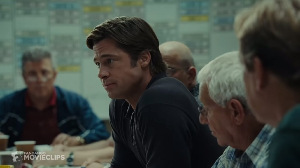 Beane as played by Brad Pitt in the movie Moneyball.