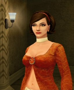 She's not a 10,000 polygon bump-mapped model, but Cate Archer of No One Lives Forever 2 manages to look pretty dang good.  Okay, her outfit is over-the-top, but that's the fault of the 60's spy movie heroines she's sending up, not the graphics engine.