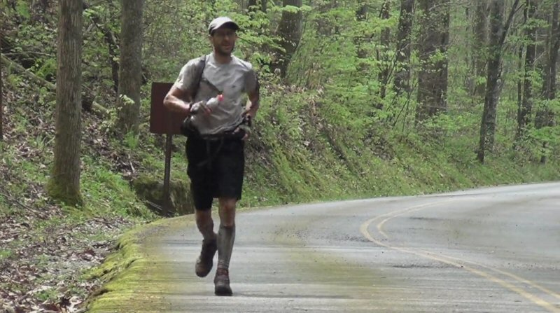 Image taken from a documentary on <a href='https://en.wikipedia.org/wiki/Barkley_Marathons'>The Barkley Marathons</a>, one of the most savage physical races ever devised. Entrants must run five laps around the 20-mile course, which features rough terrain, no navigation aids, no aid stations, and requires thousands of feet of climbing and descent. There's a documentary about it on Netflix, which is pretty good.