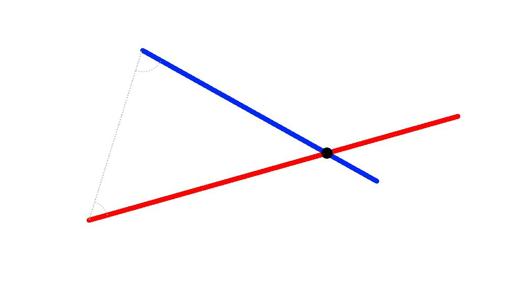 I worked out a formula to solve this, but it only works on left triangles.