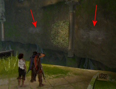 The scratches in the wall don't make much sense unless the Prince has been platforming here for years, but they provide a visual cue so they can tell the scenery from the platforming sections. It has the side-effect of taking a lot of the sense of mystery and discovery out of the world if you already know what you're doing.