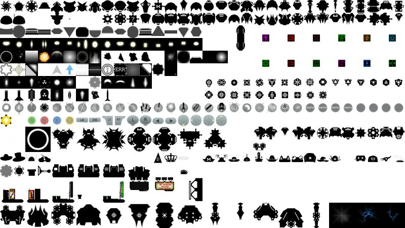 The Good Robot atlas. If you own the game, you can see the original in GoodRobot/Textures/sprites.png