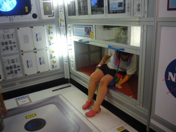 My daughter Rachel getting a feel for how beds are shaped in space.