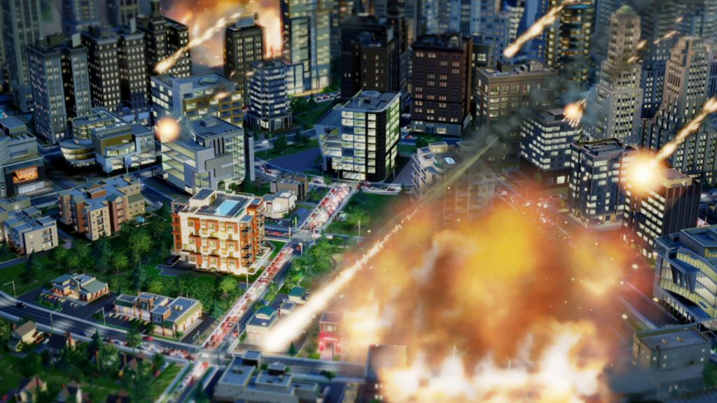 A randomly chosen image from SimCity, which shouldn`t be taken as a metaphor for how EA handled the game. Unless you think the metaphor is clever, in which case you should totally take it that way.
