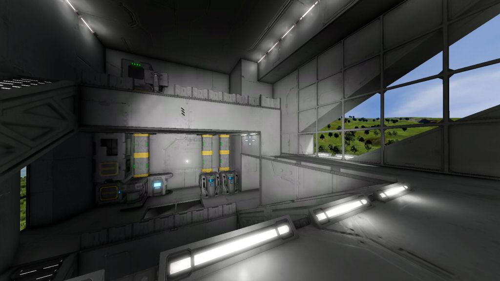 The inside of some sort of science base I built.