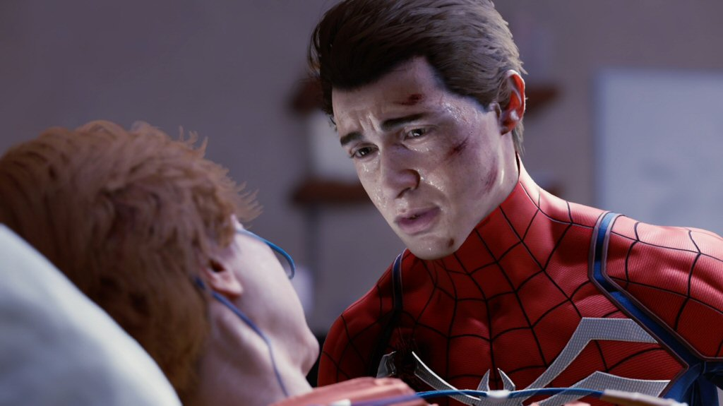 I know I'm usually really negative about photo-realistic graphics and higher fidelity images, but Insomniac did a phenominal job with these characters. This tear-jerky stuff is where videogames usually falter, and here everything is bang-on. The acting is fantastic, and the character models are able to convey the performance.