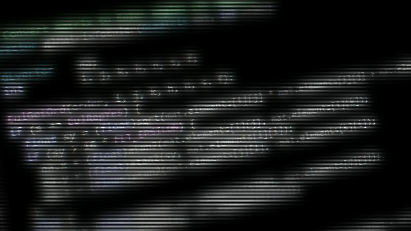 There's no way to convey the sheer joy of making a really well-designed program, so here's a picture of blurry source code. I'm pretty sure this is a snippet from the Good Robot codebase.