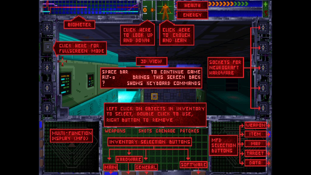 This looks like a parody of mid-90s PC interface design, but this is actually from the game. In fact, this is the first thing you see when the game launches. Hope you can memorize it, because some of these things will be really important later!