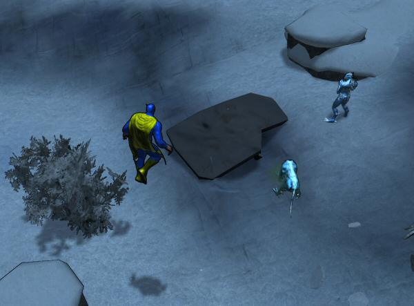 Ah! There is my goal! A piece of debris to destroy. I only get credit for ones on top of survivors, though.