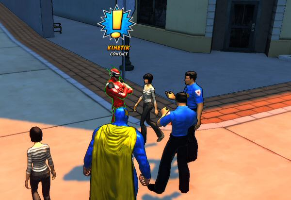 To my right: Is that officer levitating, or are his feet failing to cast a shadow?