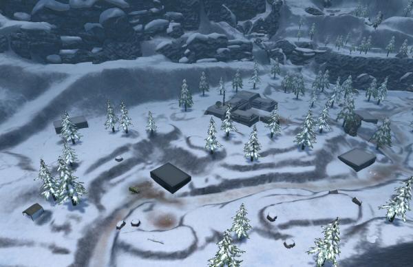 LOWER LEFT: Severisen's tiny outpost. EVERYTHING ELSE: Viper's massive terrorist enterprise.
