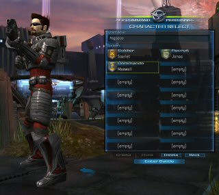 The game allows for users to maintain a generous <em>sixteen</em> characters per server, with the limitation that they all have basically the same name.