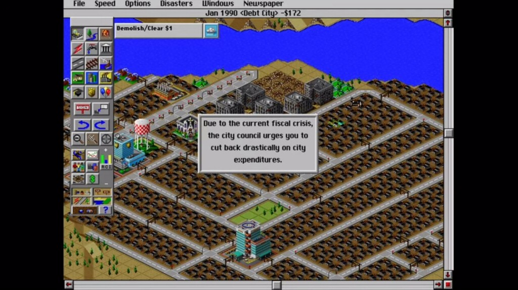 I revisited SimCity 2000 for this article. I still find the graphics to be charming as hell, but the interface is painful to use.