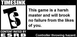 ESRB Timesink warning label.