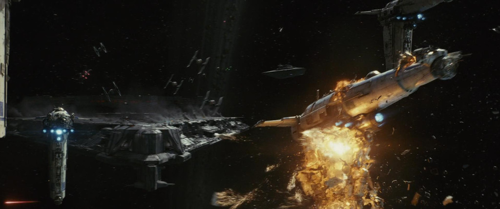 SPOILER ALERT: At some point in the movie, a ship explodes.