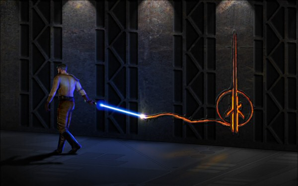 Not bad by the standards of lightsaber art, but you're no Banksy, Kyle.