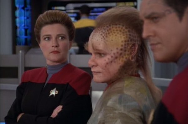 """Neelix, what are you doing outside of the cafeteria? Again? Please tell me this episode isn't another """"Neelix"""" episode. It's too soon. It's always too soon."""