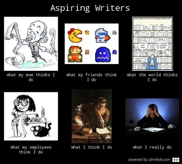 "Tip for the person who made this: I don't know what you think you're doing, but if you've got employees then you are NOT an ""aspiring writer"". Also... are you hiring?"
