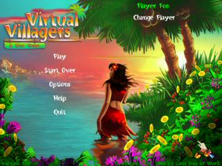 Virtual Villagers Title Screen