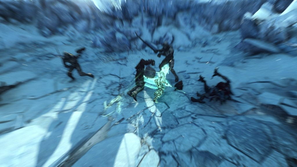 Ciri, by this point in the game, is basically one-shotting all enemies. My attempts to get a good screenshot were foiled by motion blur somehow getting turned back on.