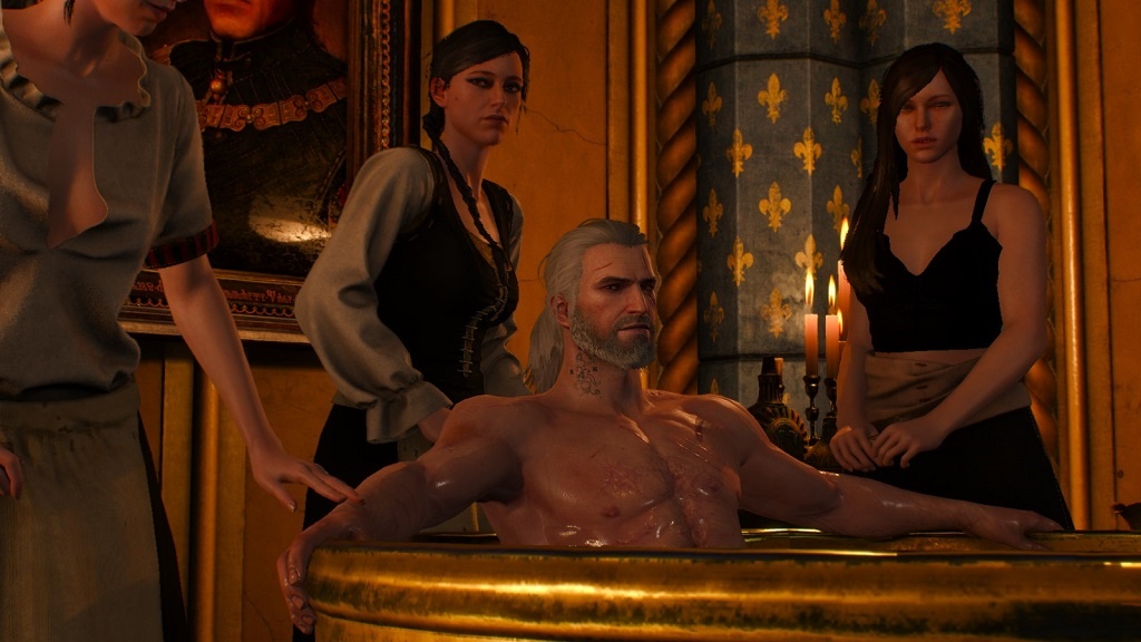 I personally think Geralt is too built in this game. The guy in this bathtub would play strong safety in the NFL, possibly even weakside linebacker. I preferred the leaner build in the second installment.