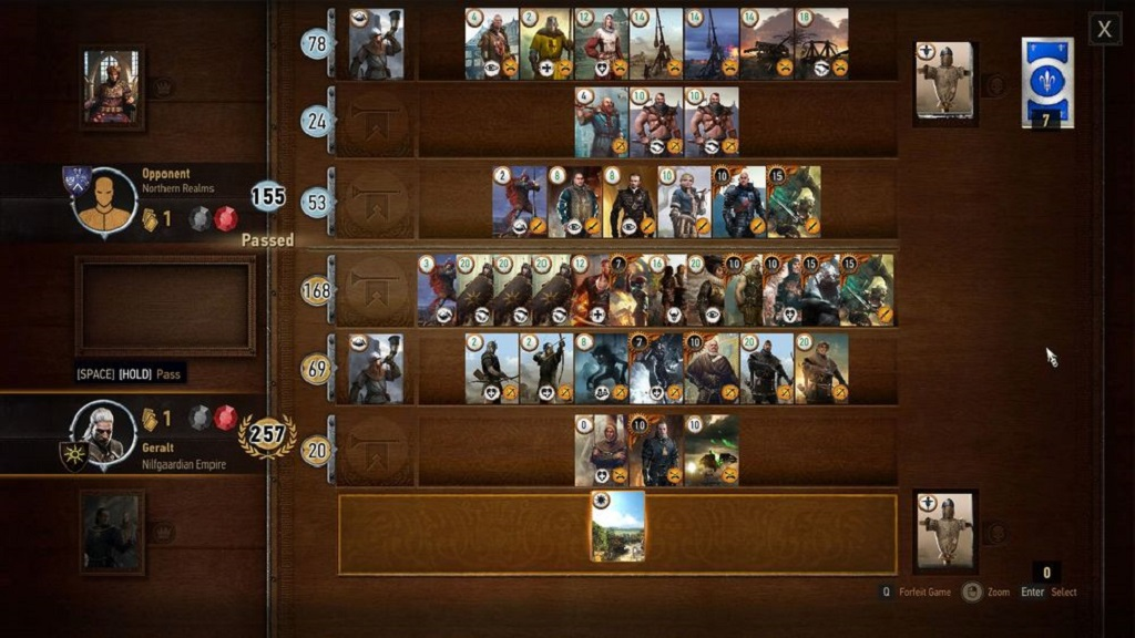 Now that's a round of Gwent.