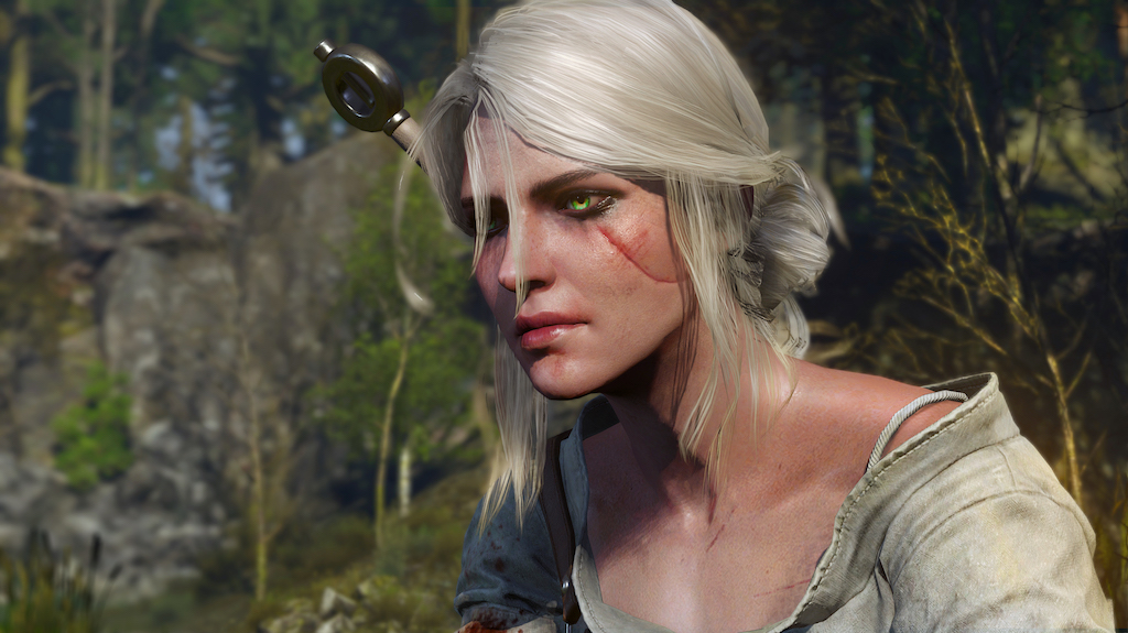I'm normally not a fan of Improbable Fantasy Eye Colors(TM), but I have to admit Ciri's eyes look pretty cool.