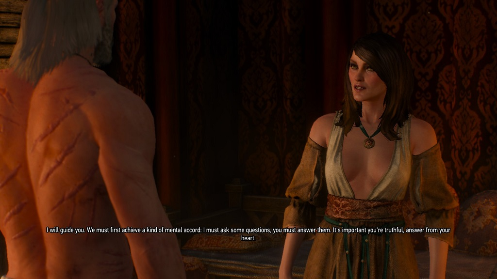 Corinne Tilly. CD Projekt can and does write mature and thoughtful stories. For all that, I wish they would lay off the cleavage a little.